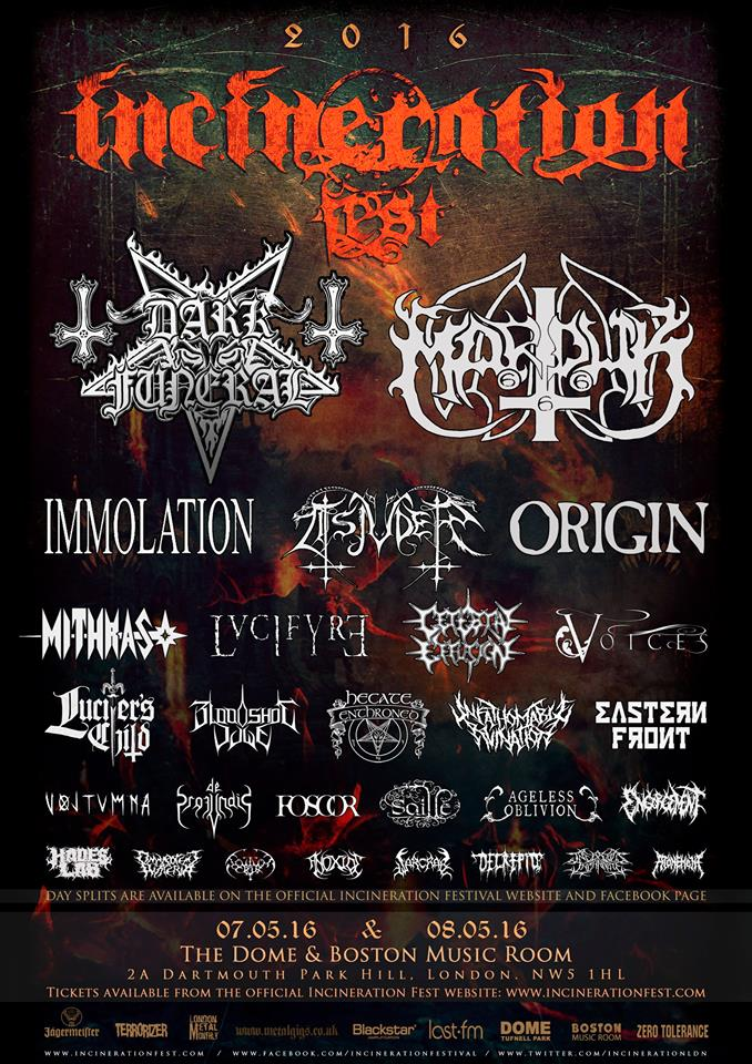 Final lineup for Incineration festival confirmed