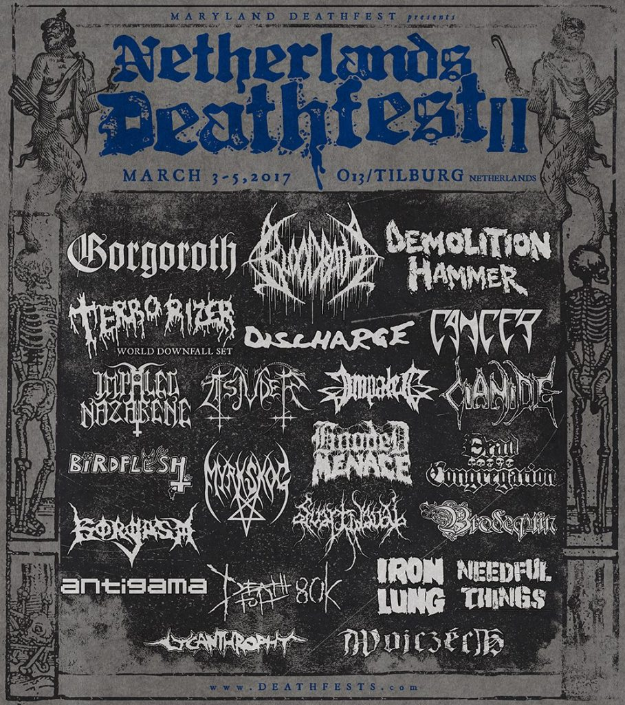 Netherlands Deathfest announce bands for 2017